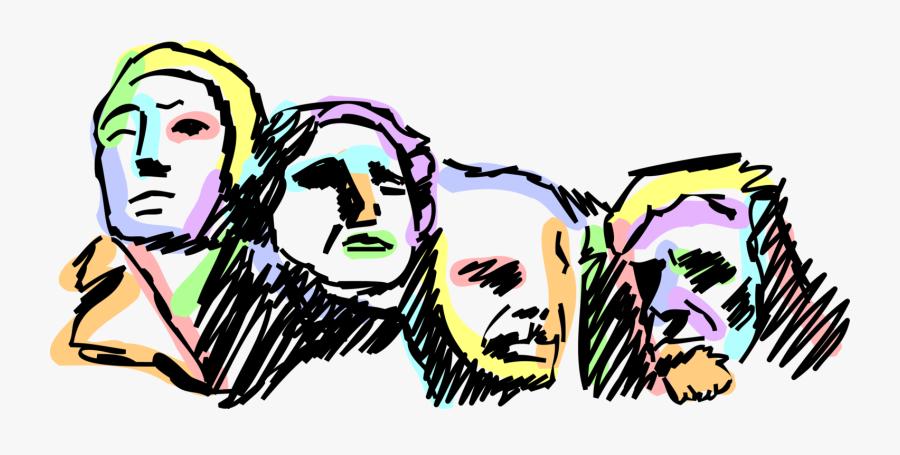 Clip Art National Memorial Image Illustration - Mt Rushmore Clipart, Transparent Clipart