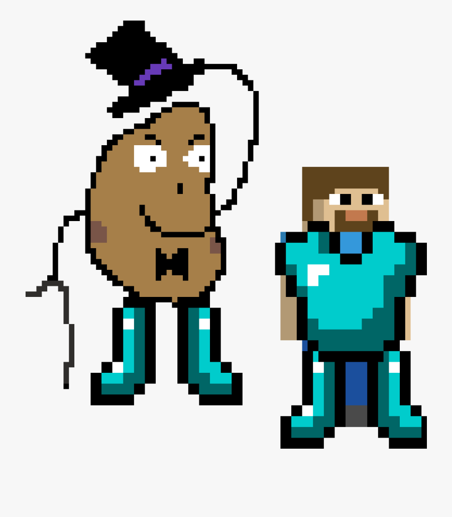 Mr Potato Man Vs Steve Draw Minecraft Diamond Armor Free