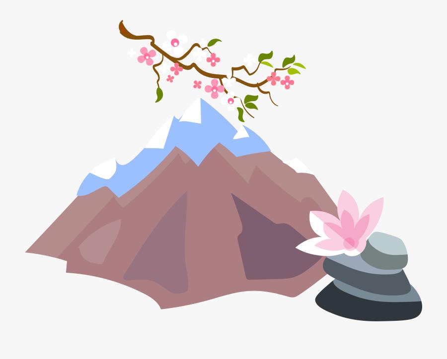 Mount Fuji Clipart Kabundukan - Transparent Background Fuji Png, Transparent Clipart