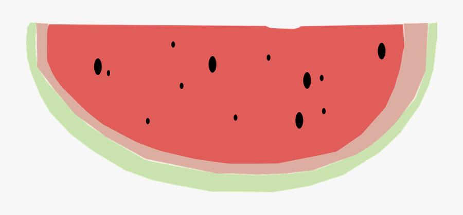 Watermelon Quarter Fruit Melon Food Juicy Summer Watermelon- - Watermelon, Transparent Clipart