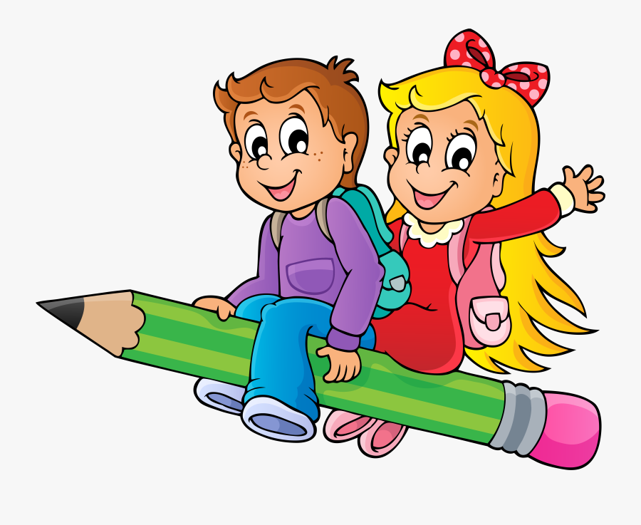 Clip Art Drawing With Children - School Kids Drawing, Transparent Clipart