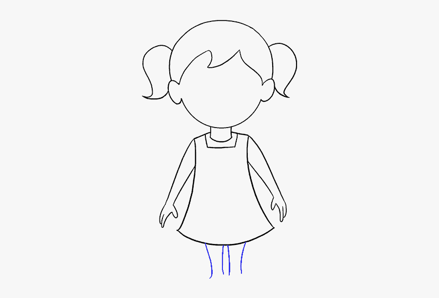 Free Easy Girl Drawing, Download Free Clip Art, Free - Easy Cartoon Little Girls, Transparent Clipart