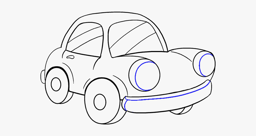 Clip Art Car Drawing For Kid - Draw A Car Cartoon, Transparent Clipart