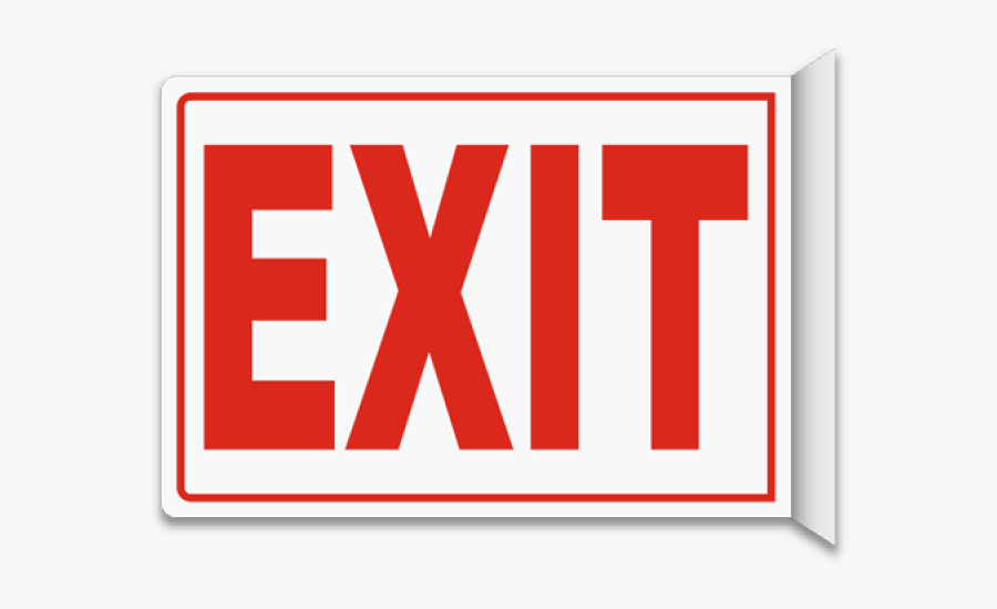 Exit Sign Clipart - Exit This Way Sign, Transparent Clipart