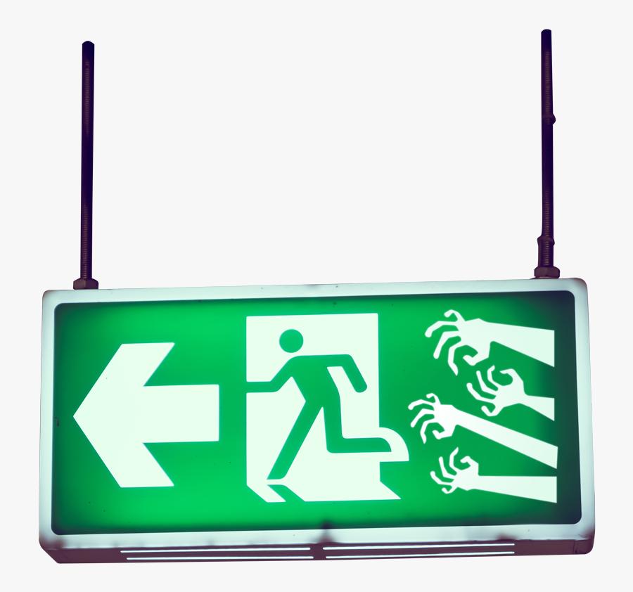 Exit Sign Escape Rooms Escape Asylum - Exit Sign Left Arrow, Transparent Clipart