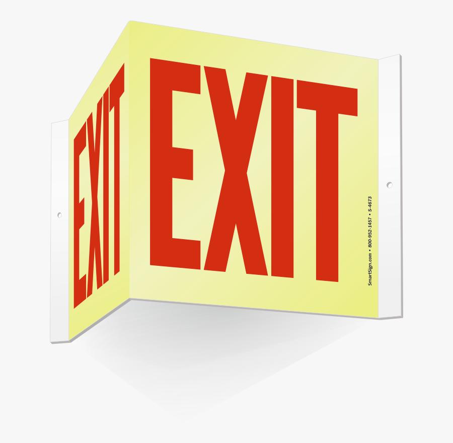 Transparent Exit Door Png - Neon Exit Sign Clipart, Transparent Clipart