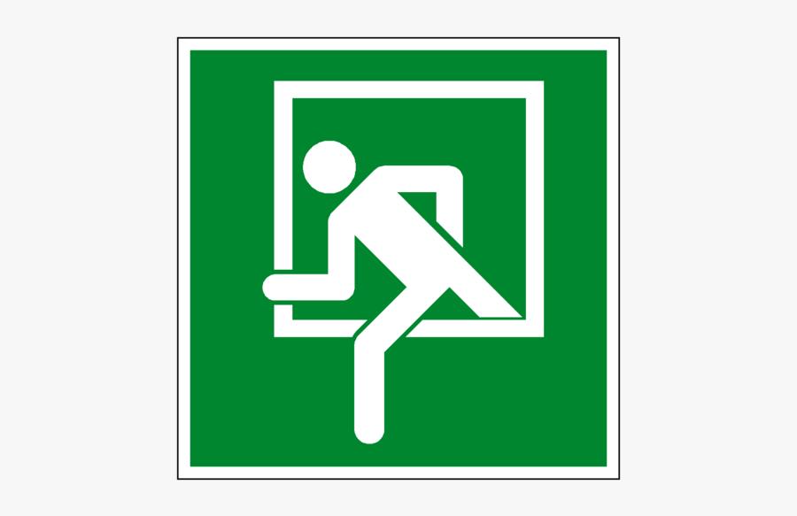 Emergency Clipart Fire Door - Emergency Exit Window Sign, Transparent Clipart