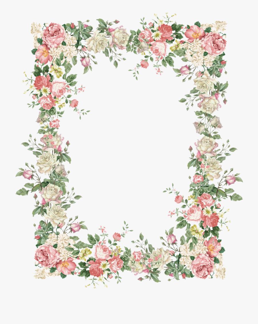 Vintage Flower Frame Png, Transparent Clipart