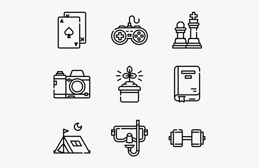 Clip Art Freetime Hobbies - Legal Icons, Transparent Clipart