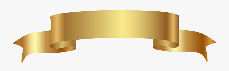 Gold Banner Transparent Png - Gold Banner Transparent Background, Transparent Clipart