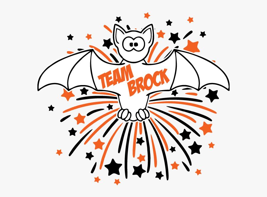 Team Brock Halloween 5k Fun Run - Clipart Animated Fourth Of July, Transparent Clipart