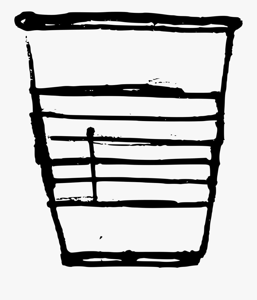 Clipart Plastic Cup - Line Art, Transparent Clipart