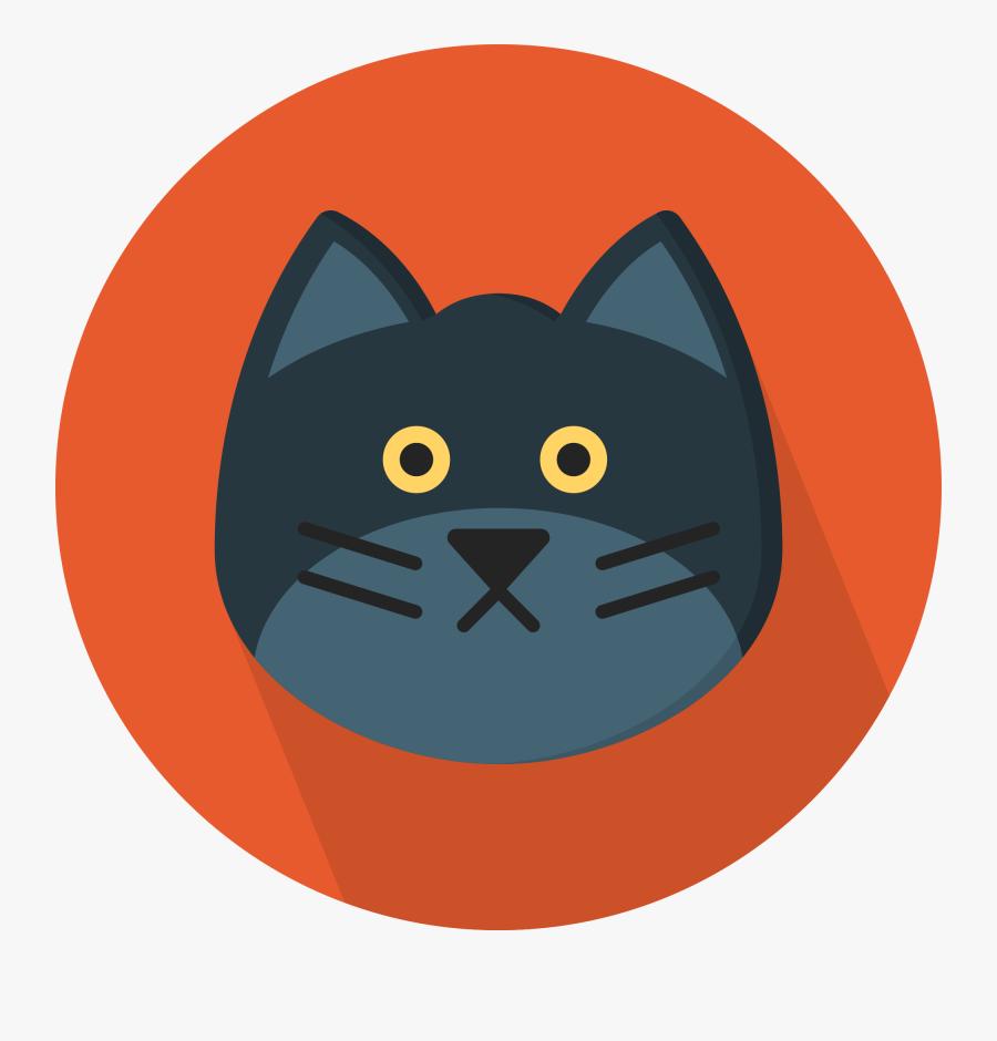 Cartoon Cat Clipart 28, Buy Clip Art - Cat Flat Design Png, Transparent Clipart
