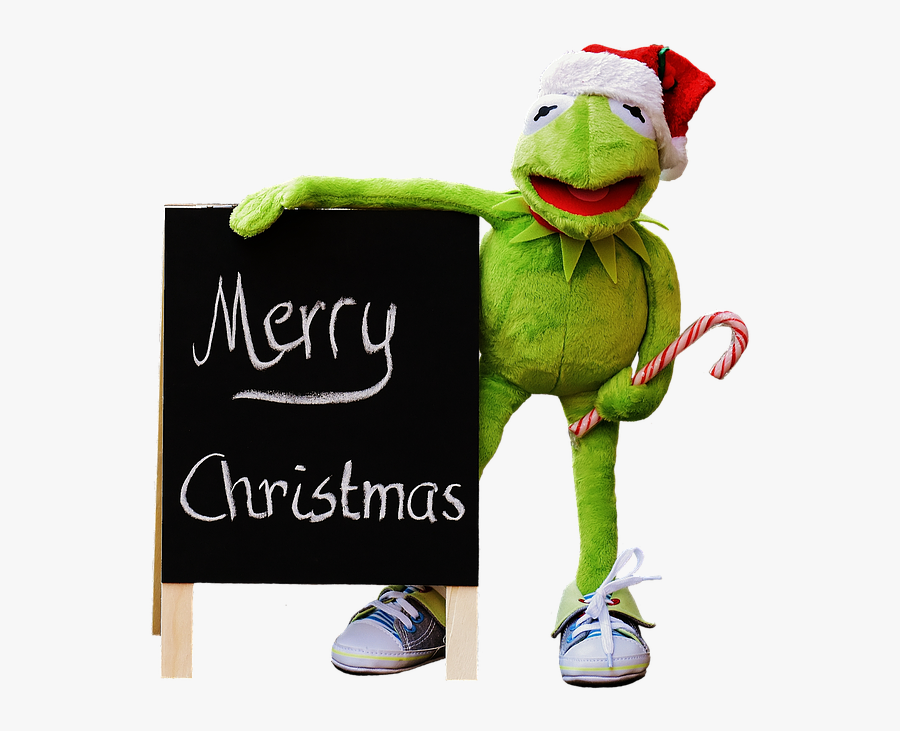 Kermit, Frog, Isolated, Christmas, Santa Hat, Cute - Merry Christmas Casino Online 2017, Transparent Clipart