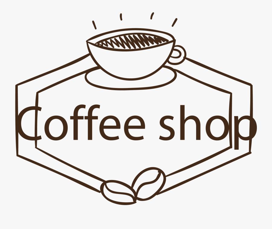 Coffee Shop Text Png, Transparent Clipart