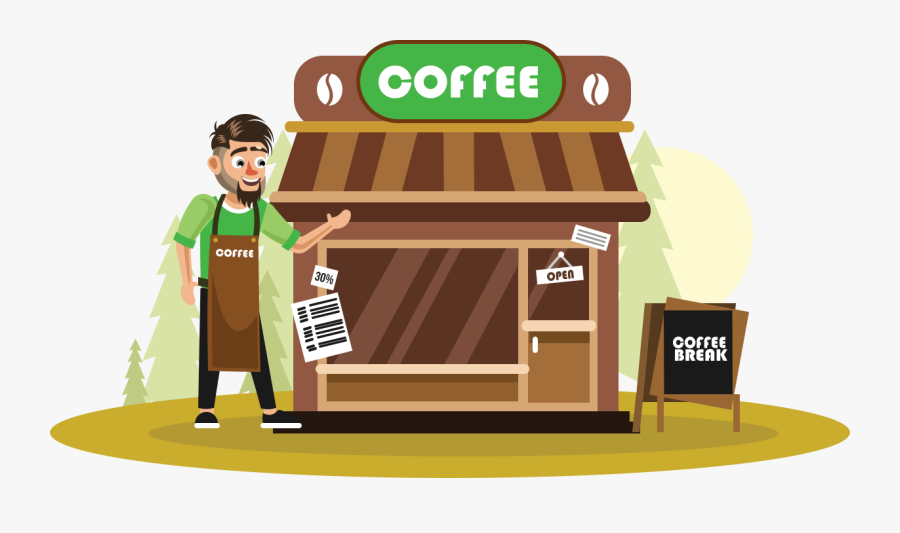 Transparent Opened Book Clipart - Coffee Shop Animated, Transparent Clipart