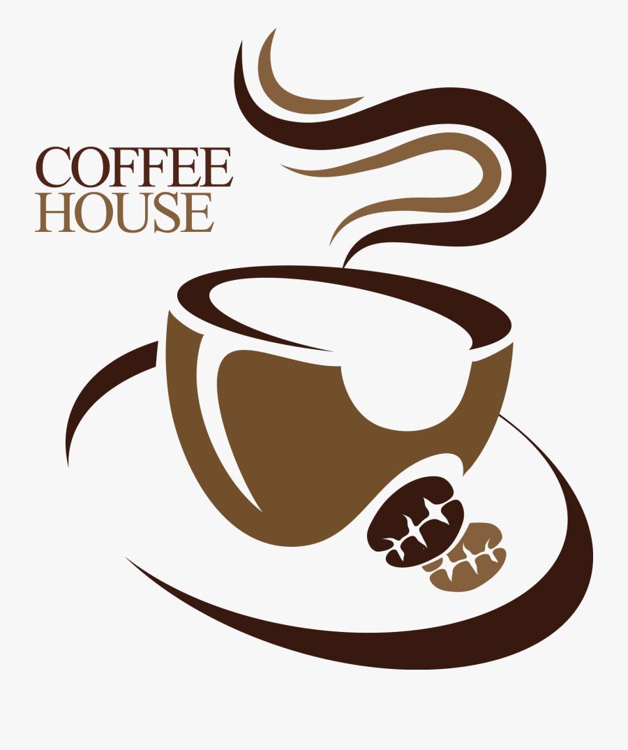 Clip Art Clip For Free - Coffee Shop Logo Png, Transparent Clipart