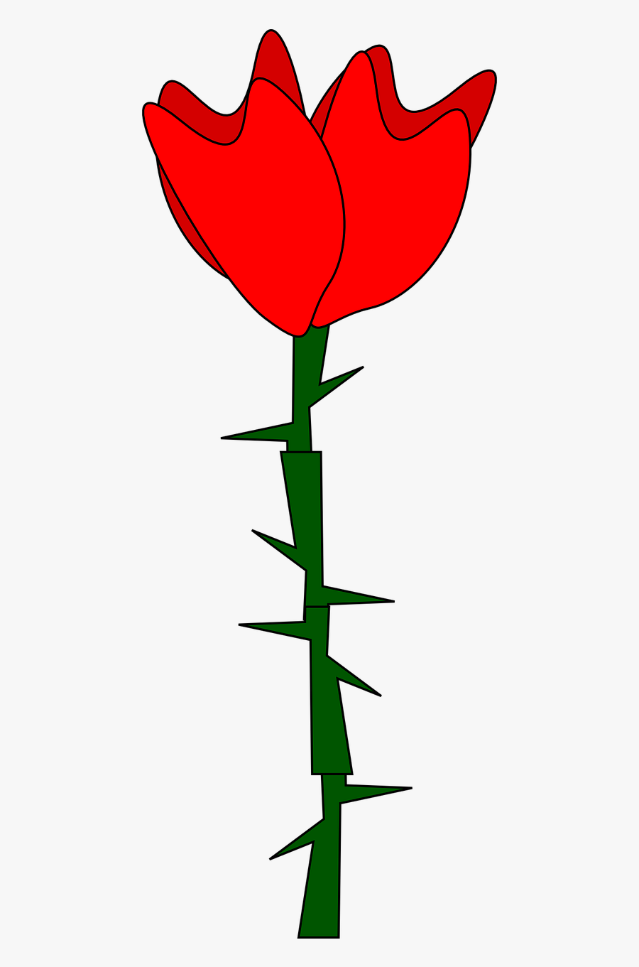 Transparent Beauty Vector Png - Rose With Thorns Clipart, Transparent Clipart