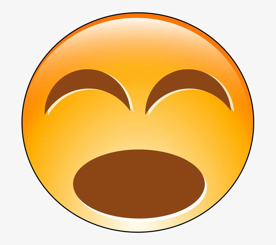 Laughing Smiley Face, Transparent Clipart