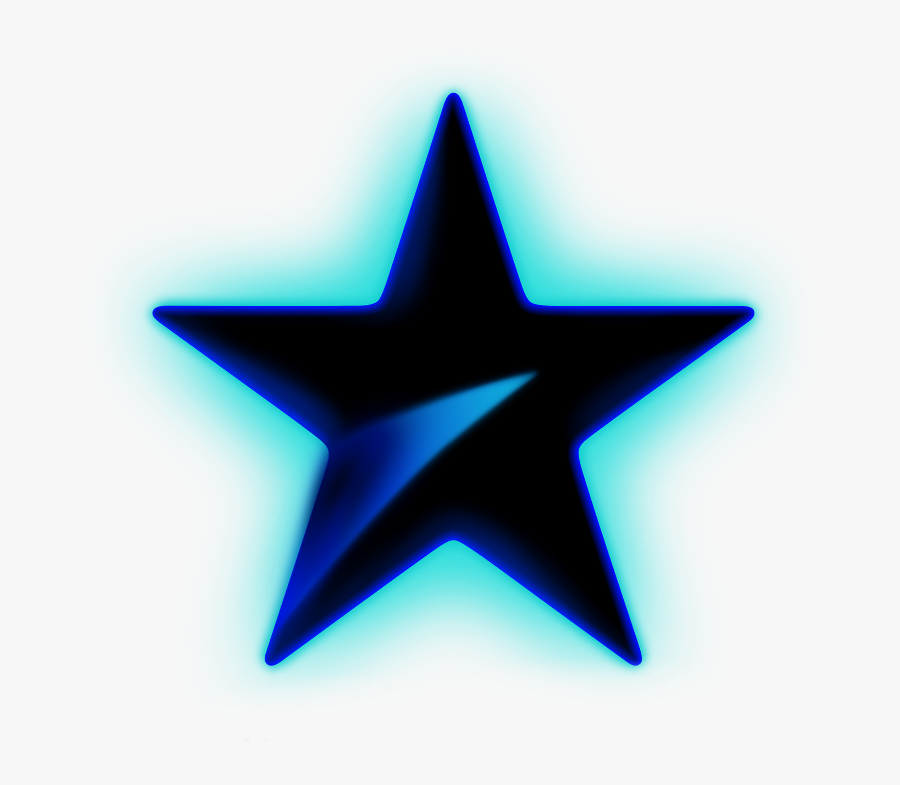Transparent Star Glow Png - Blue Glowing Star Png, Transparent Clipart