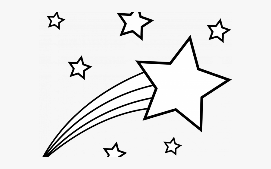 Shooting Star Clipart Black And White, Transparent Clipart
