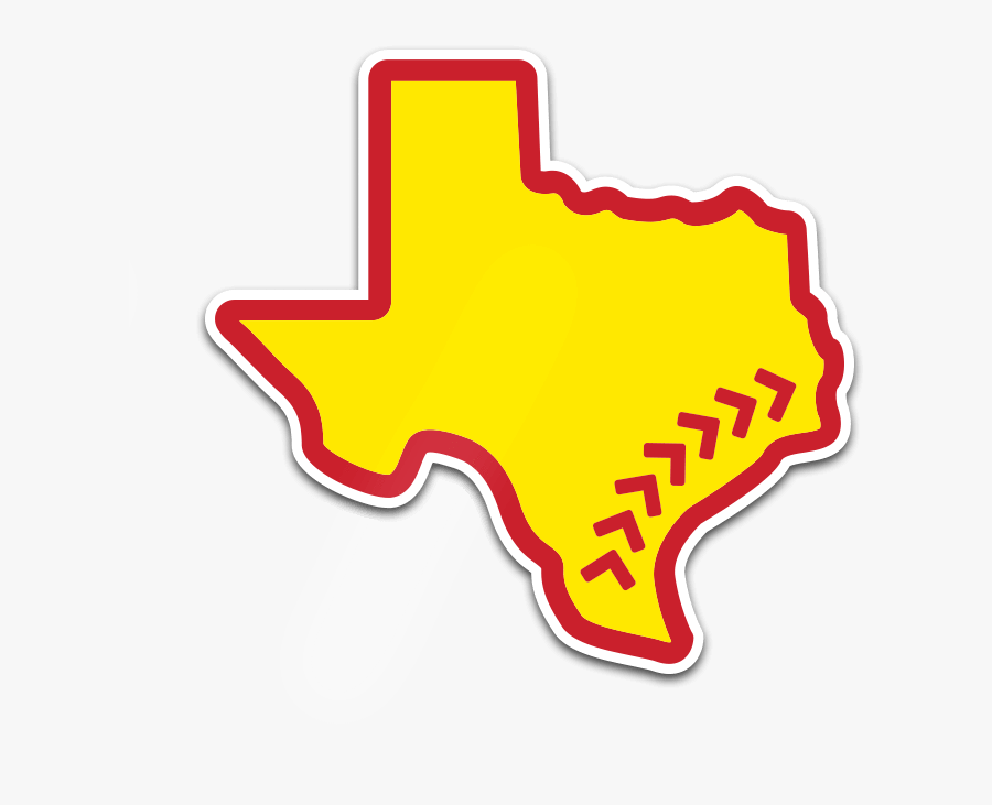Texas With Star On Houston, Transparent Clipart