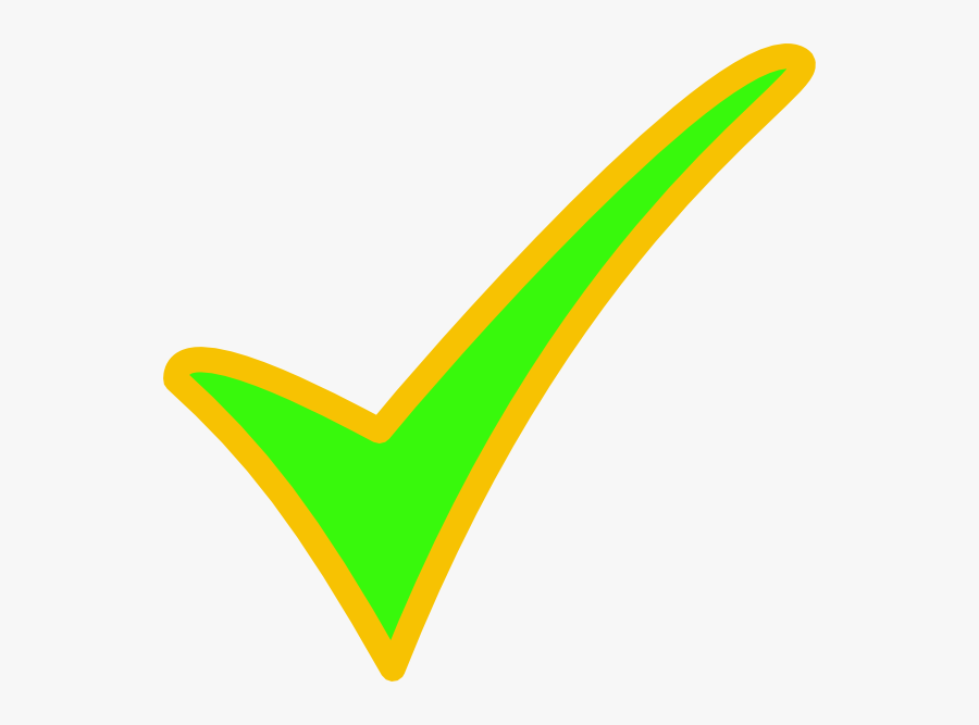 Check Clipart Yellow Green - Green And Yellow Check Mark, Transparent Clipart