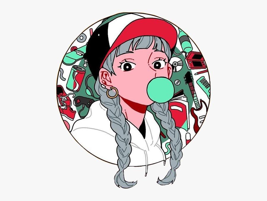 #rikkisgirl #girl #braids #anime #animegirl #kawaii - Aesthetic Anime Girl Transparent, Transparent Clipart