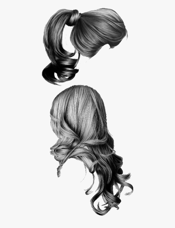 Pencil Hair Sketch Girls - Cabello Dibujo A Lapiz, Transparent Clipart