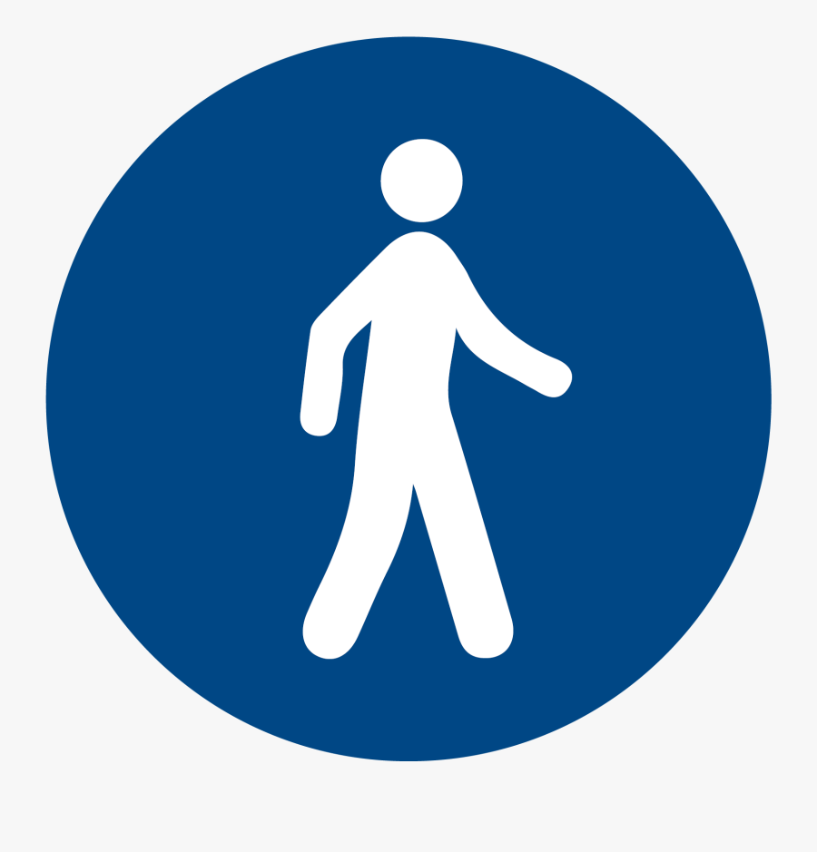 Traffic Sign Clipart , Png Download - Pedestrians Must Use This Route, Transparent Clipart