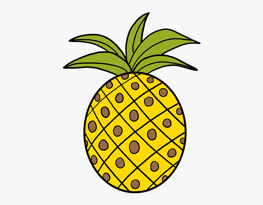 How To Draw A Pineapple - Draw Pineapple, Transparent Clipart