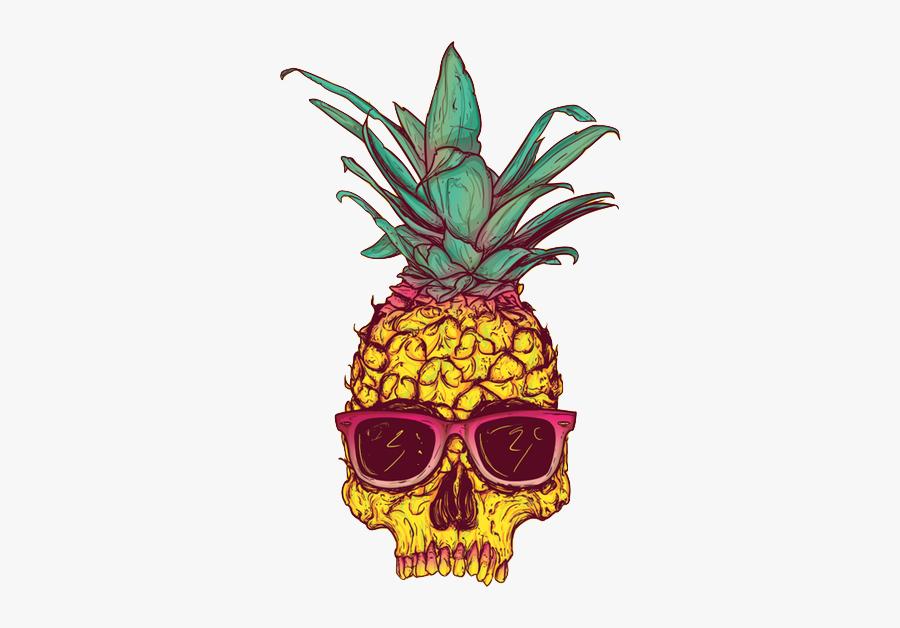 Transparent Pineapple Tumblr - Pineapple Skull, Transparent Clipart