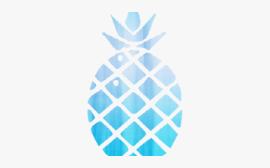Pineapple Clipart Turquoise - Cartoon Pineapple Transparent Background Png, Transparent Clipart
