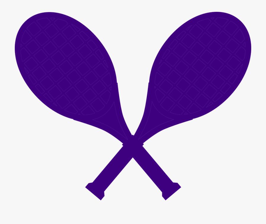 Racquets, Rackets, Tennis, Sport, Crossed, Marine - Purple Tennis Racket, Transparent Clipart