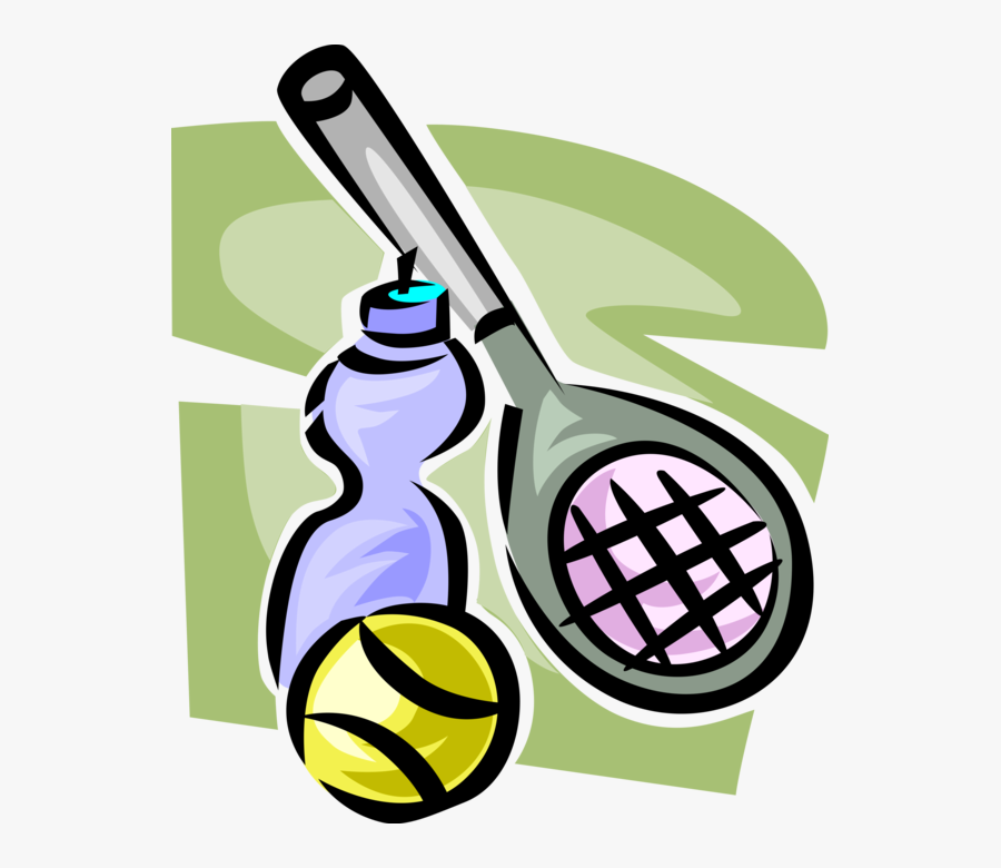 Vector Illustration Of Sport Of Tennis Racket Or Racquet,, Transparent Clipart