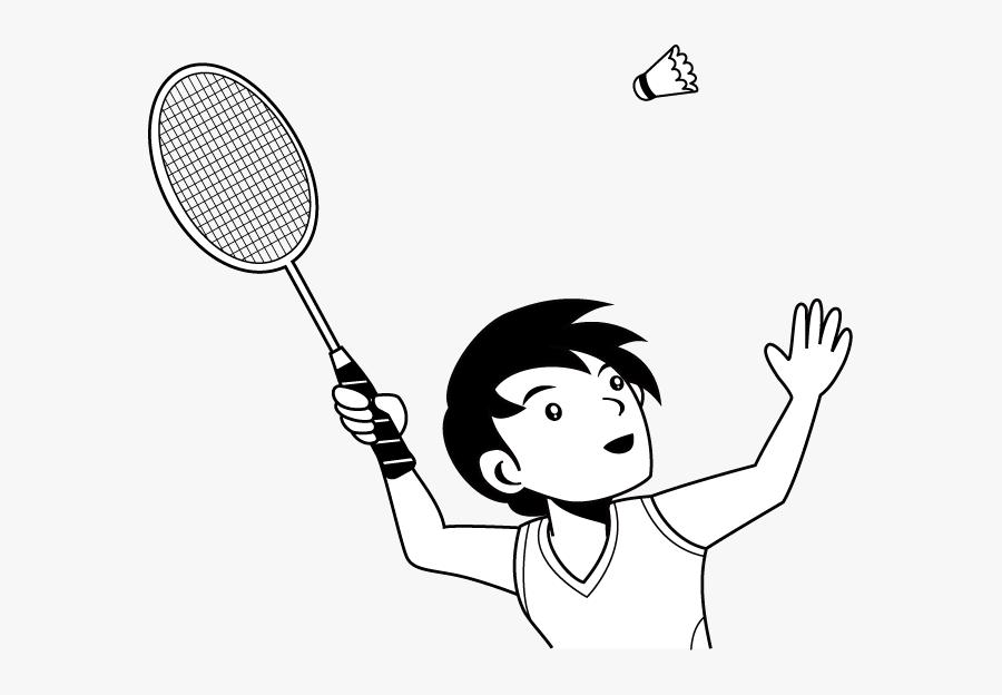 Badminton Clipart Child - Playing Badminton Clip Art, Transparent Clipart