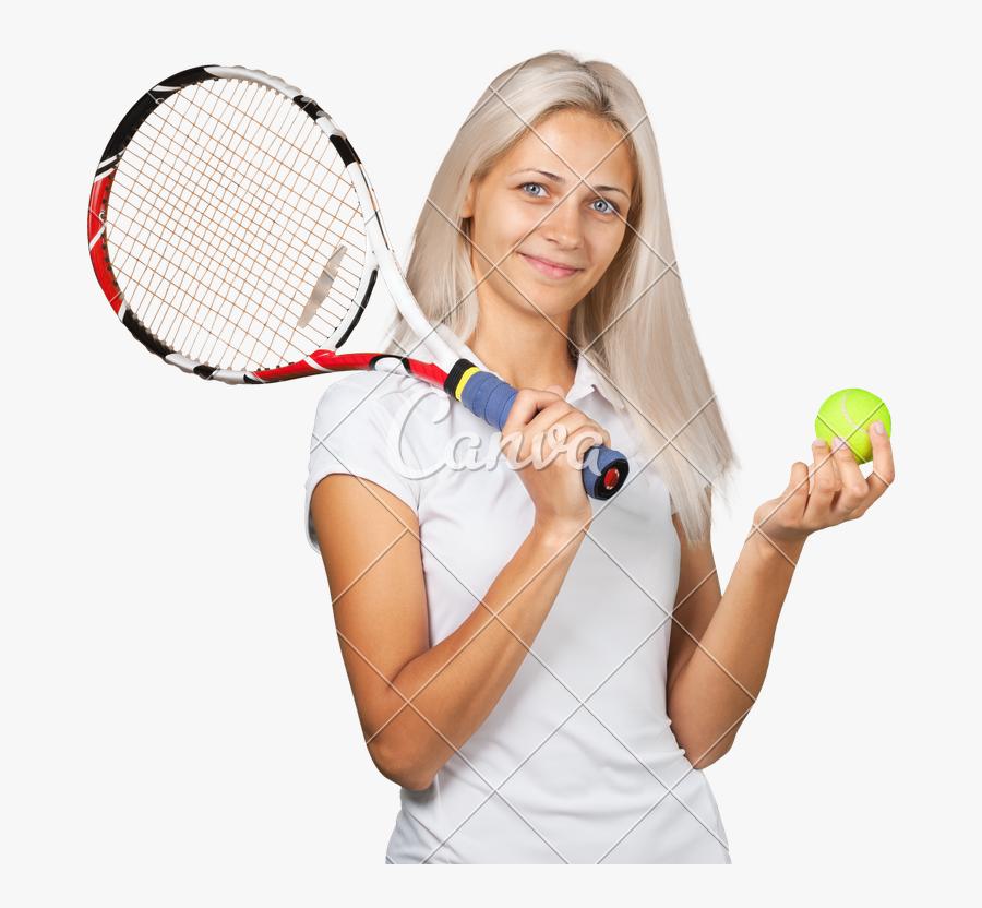 Clip Art Portrait Of A Female - Tennis Player, Transparent Clipart