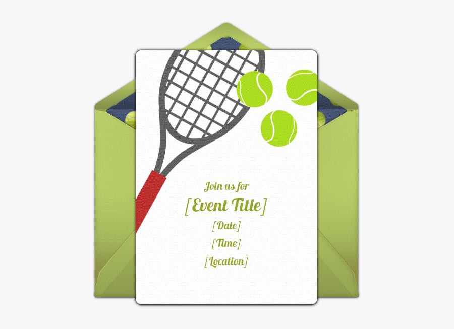 Free Invitations Pinterest Online - Free Tennis Birthday Printable, Transparent Clipart