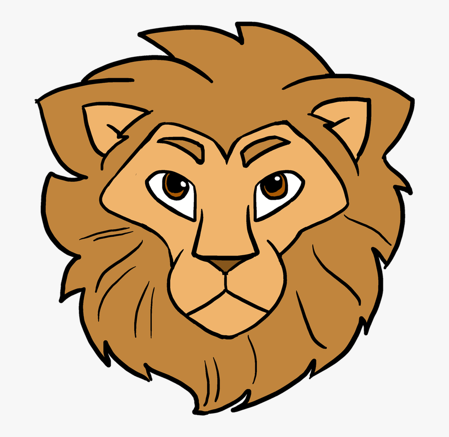 How To Draw Lion Head - Simple Lion Face Drawing, Transparent Clipart