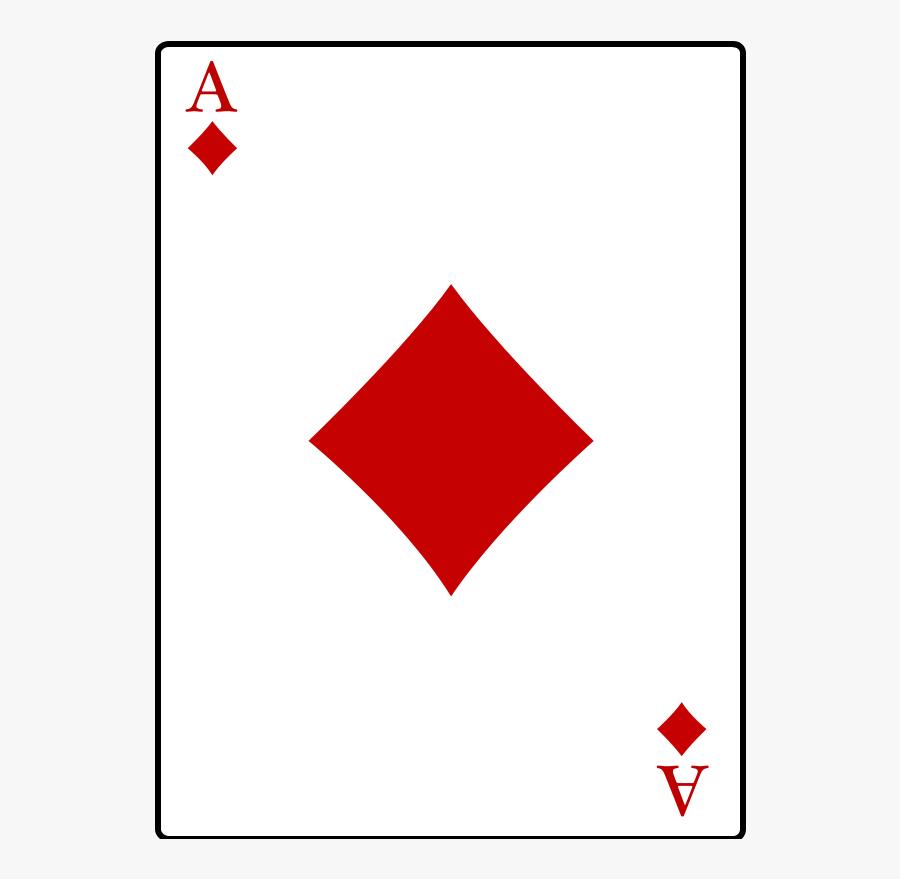 Ace Of Diamonds - Graphic Design, Transparent Clipart