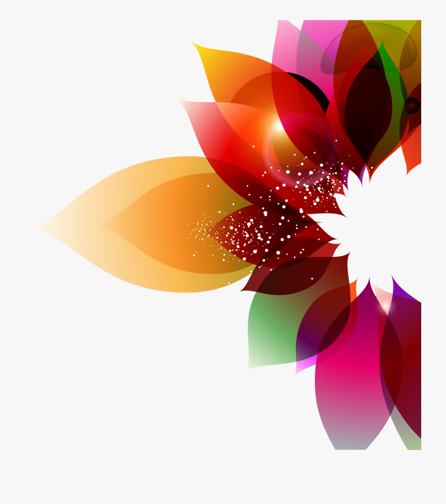 Transparent Objective Clipart - Flower Abstract Vector Png, Transparent Clipart