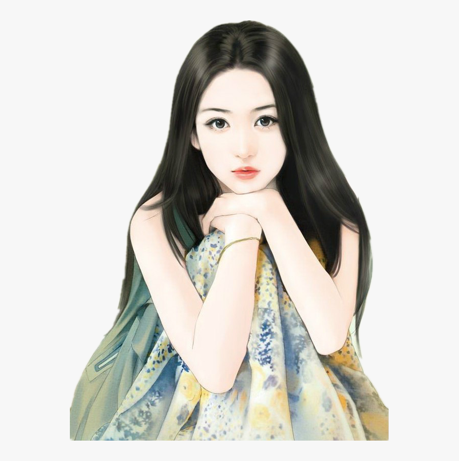 Clip Art Closed Girl Pinterest Chinese - Chinese Girl Draw Painting, Transparent Clipart