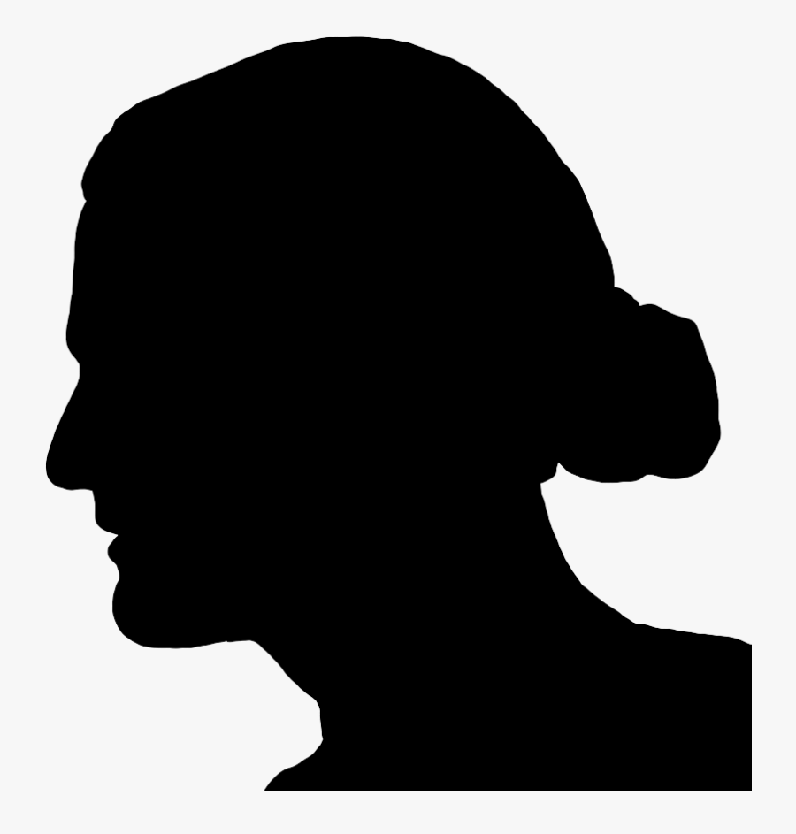 Silhouette Men With Long Hair, Transparent Clipart