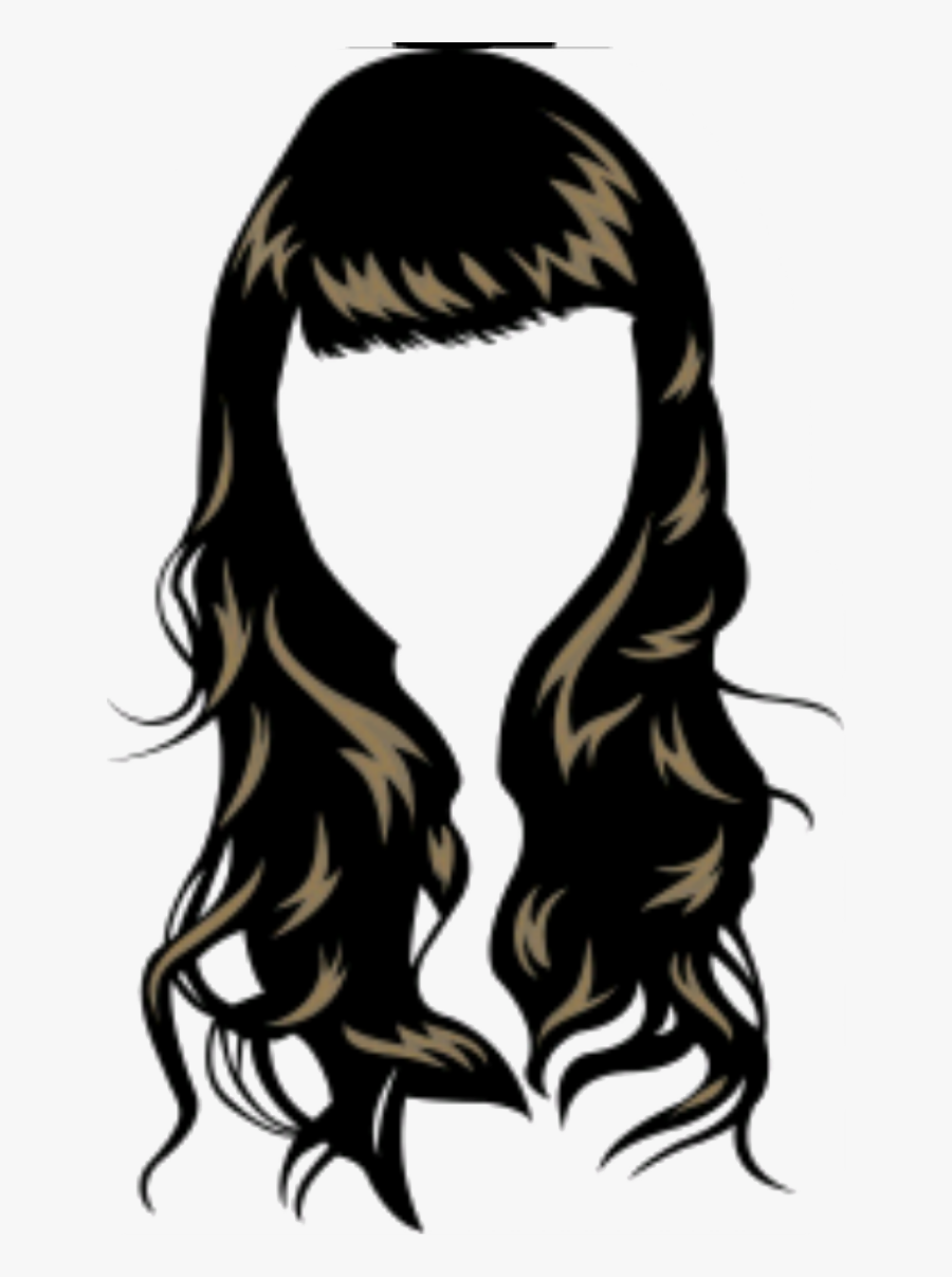 Waves Haircut Png - Girl Hair Vector Png, Transparent Clipart