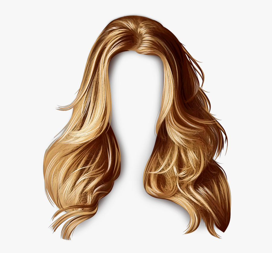 Wig Pull Hairstyle Long Photos Integrations Artificial - Transparent Background Hair Clip Art, Transparent Clipart
