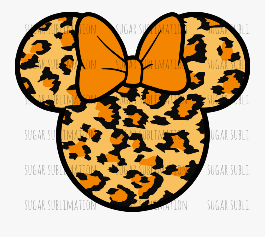 Leopard Mickey Ears Clipart, Transparent Clipart