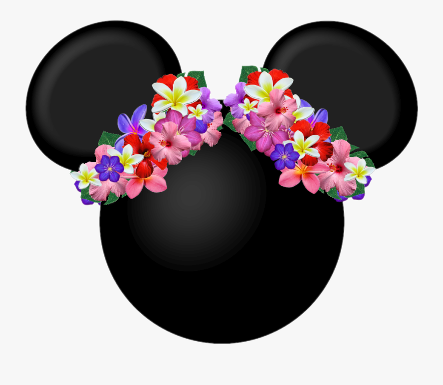 #mickey #mickeymouse #minniemouse #minnie #mickeyears - Minnie Hawaiana Fiesta, Transparent Clipart