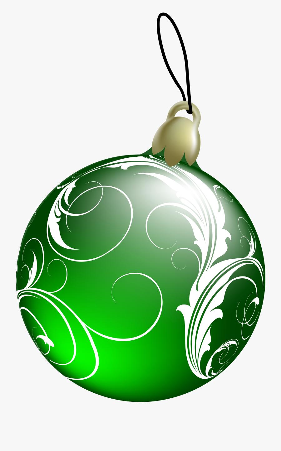 Beautiful Green Christmas Ball Png Clipart - Green Christmas Balls Transparent, Transparent Clipart