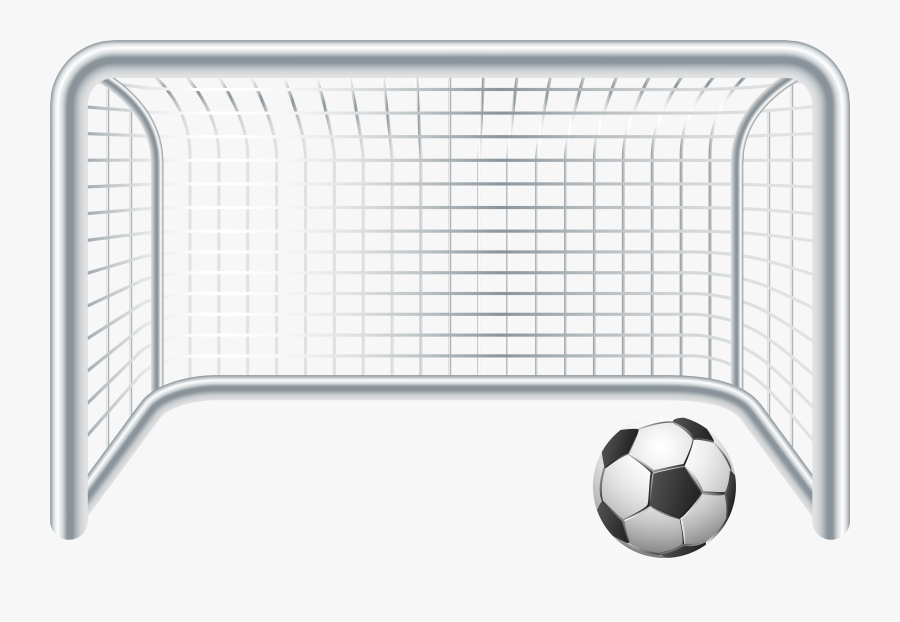 Soccer Ball And Gate - Soccer Goal Clipart Png, Transparent Clipart