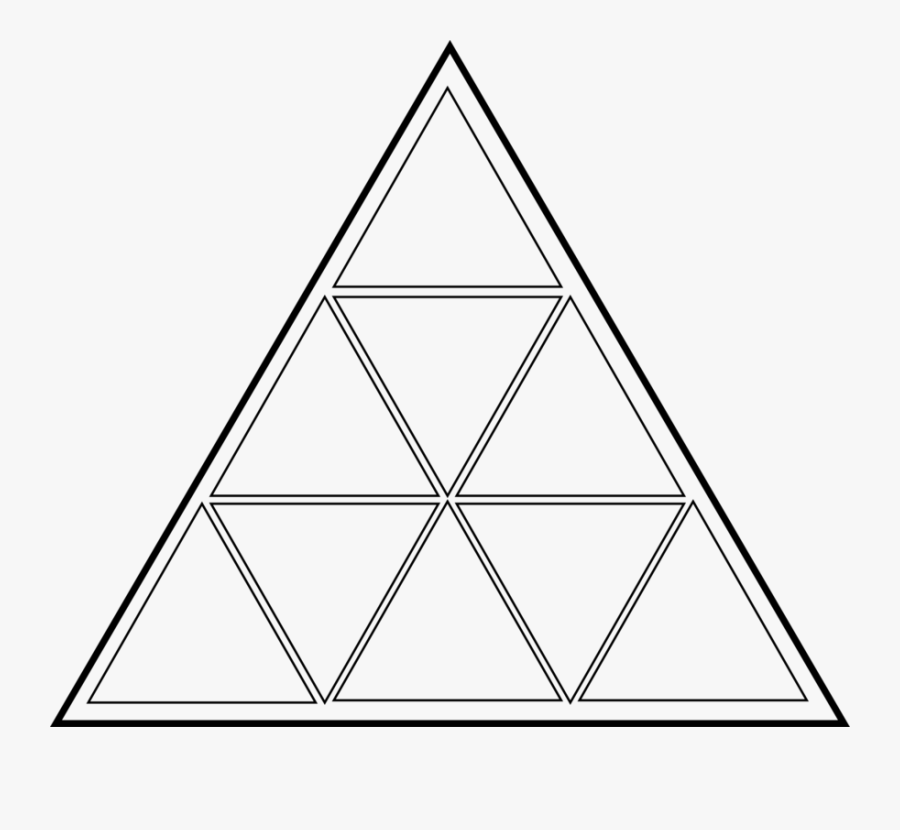 Line Art,triangle,symmetry - Triangle With 8 Triangles, Transparent Clipart